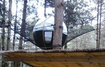 «Los nidos del Béarn», cabañas y nidos en los árboles en Loubieng