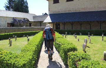 Pilgrims of Compostela in Lacommande