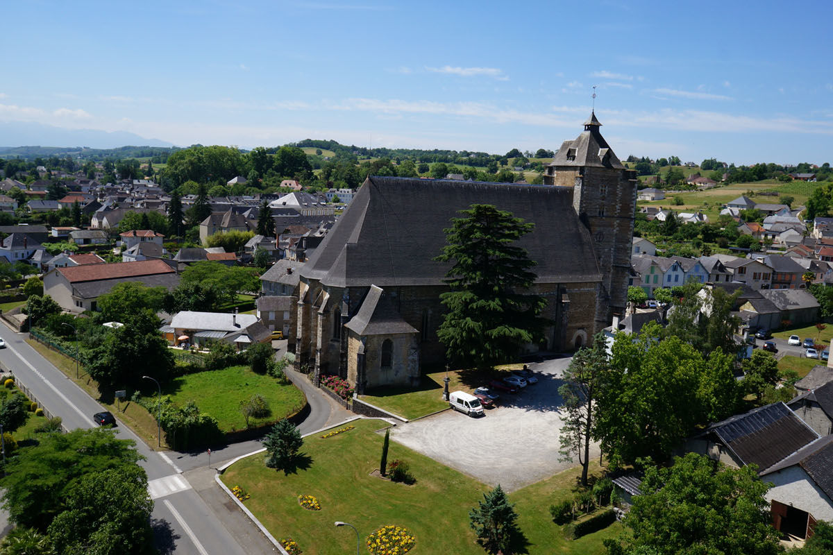 The church of St Girons in Monein