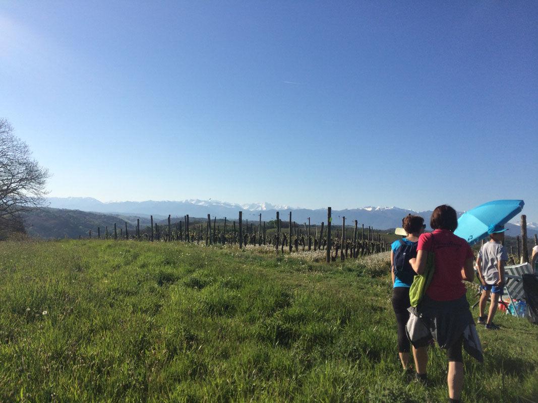 Vue imprenable sur les Pyrénées depuis la boucle de Cuqueron en Béarn