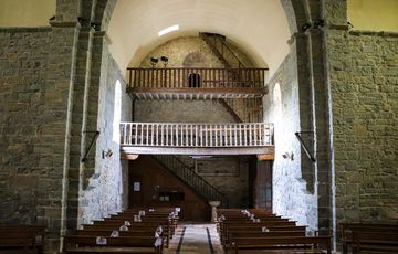 Balcon de l'église de l'abbaye de Sauvelade