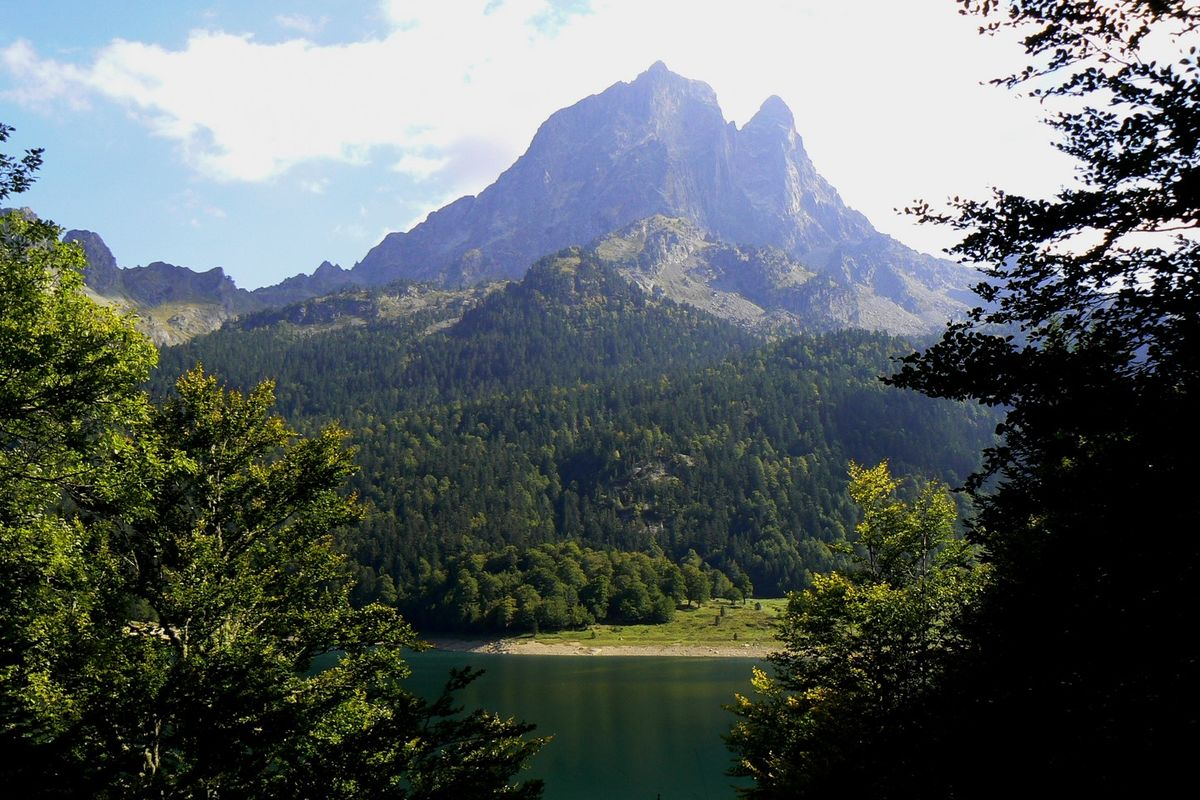 The Pic du Midi d'Ossau in Béarn