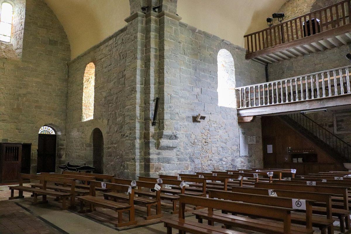 Cœur de l'église de Sauvelade
