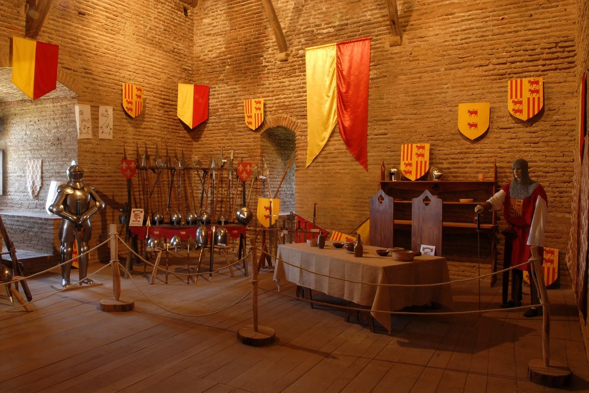 Inside of the Castle of Montaner