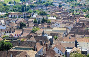Orthez vu depuis le château Moncade