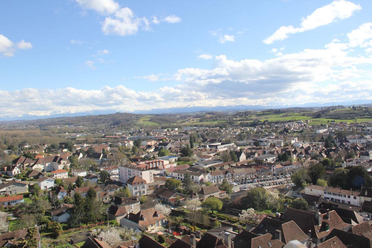 Vue panoramique sur Orthez depuis la Tour Moncade