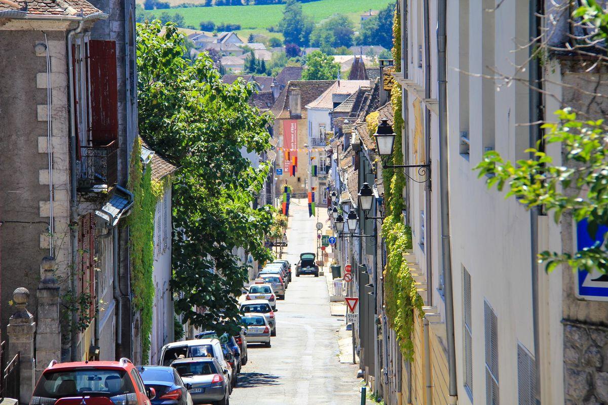 La rue Moncade d'Orthez