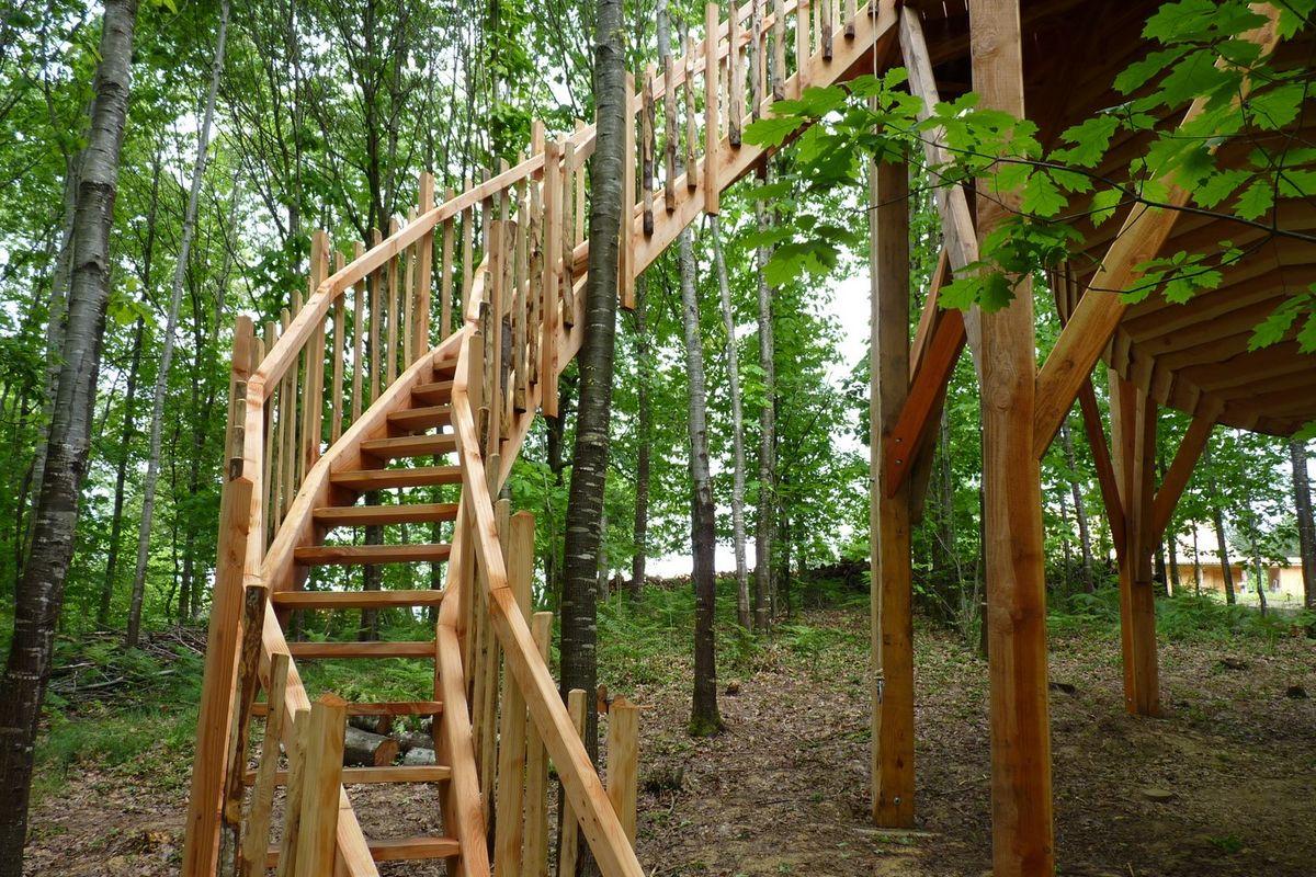 Cabane dans les arbres, Les Nids du Béarn à Loubieng