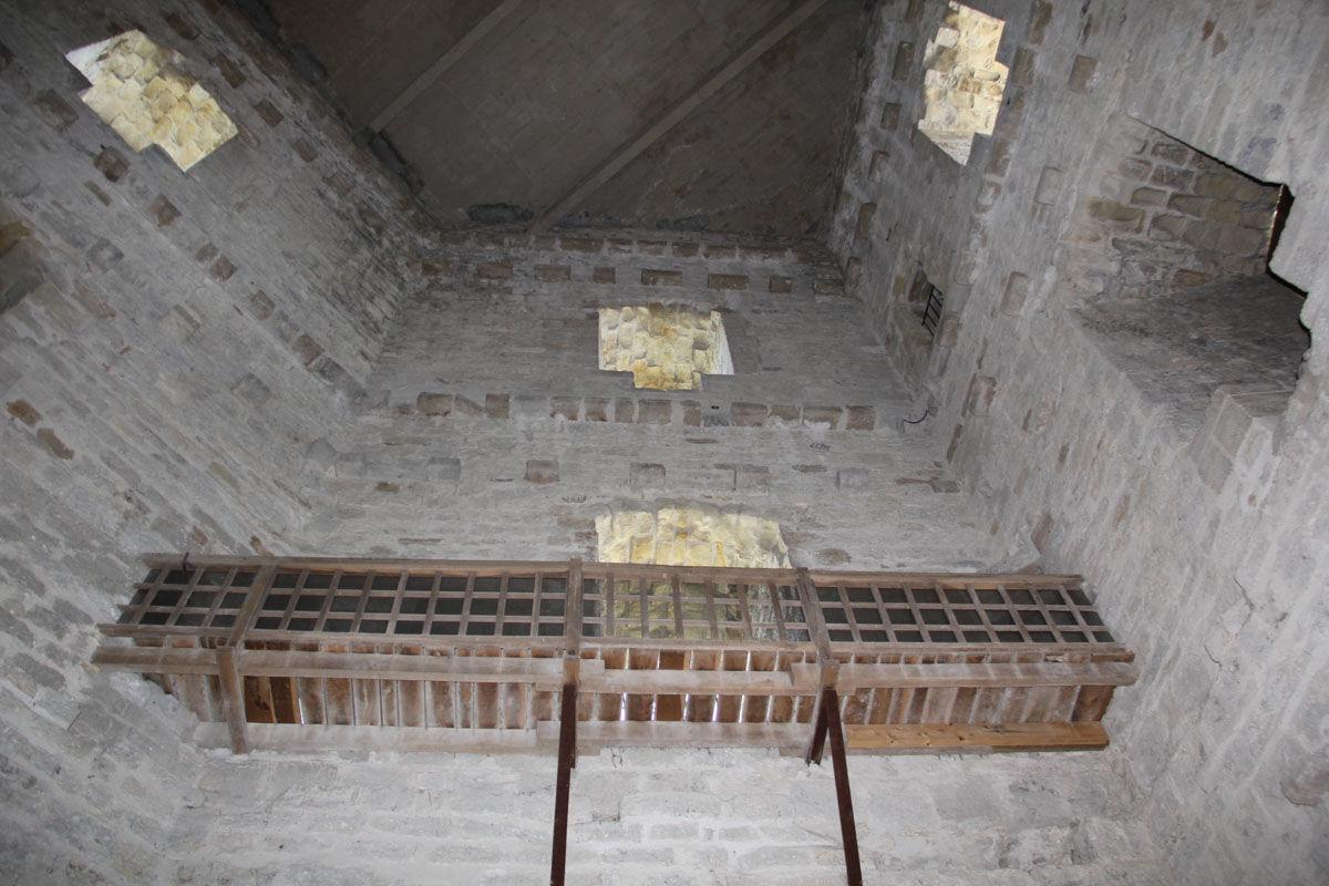 Galerie pour accéder au sommet de la Tour Moncade à Orthez