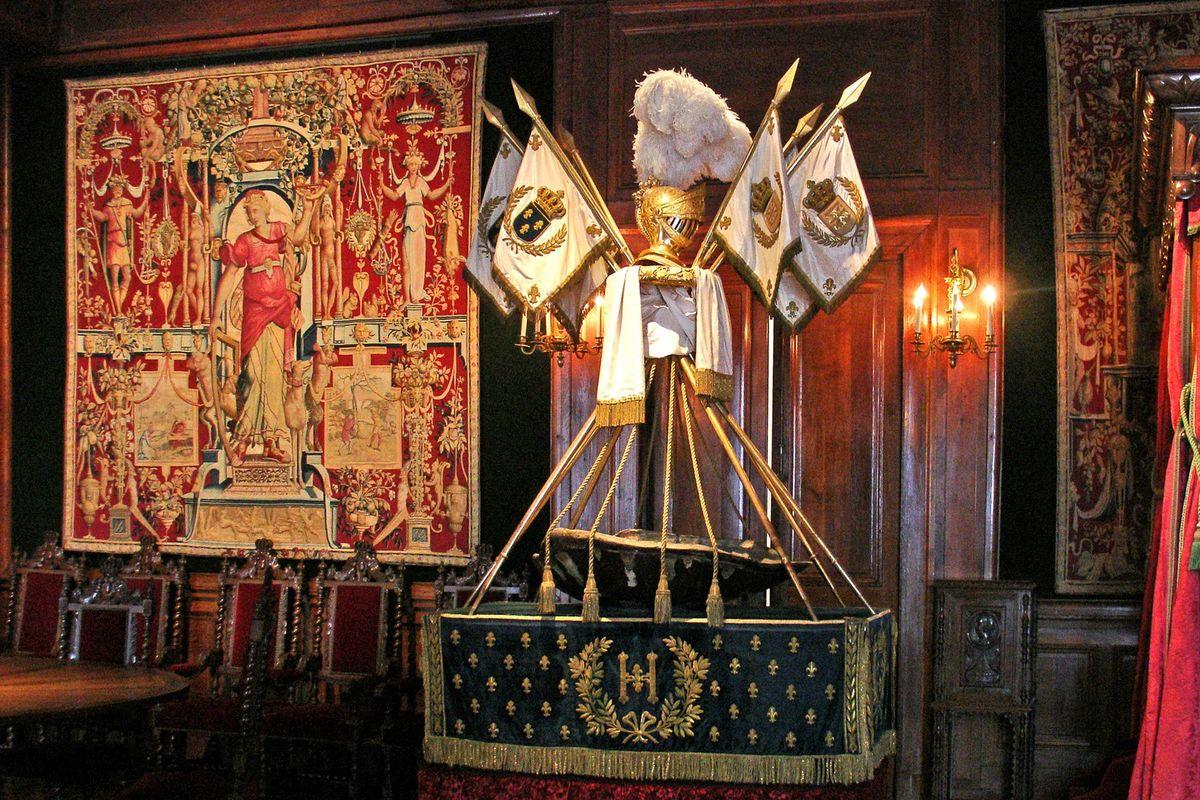 La cuna de Henri IV en el Castillo de Pau