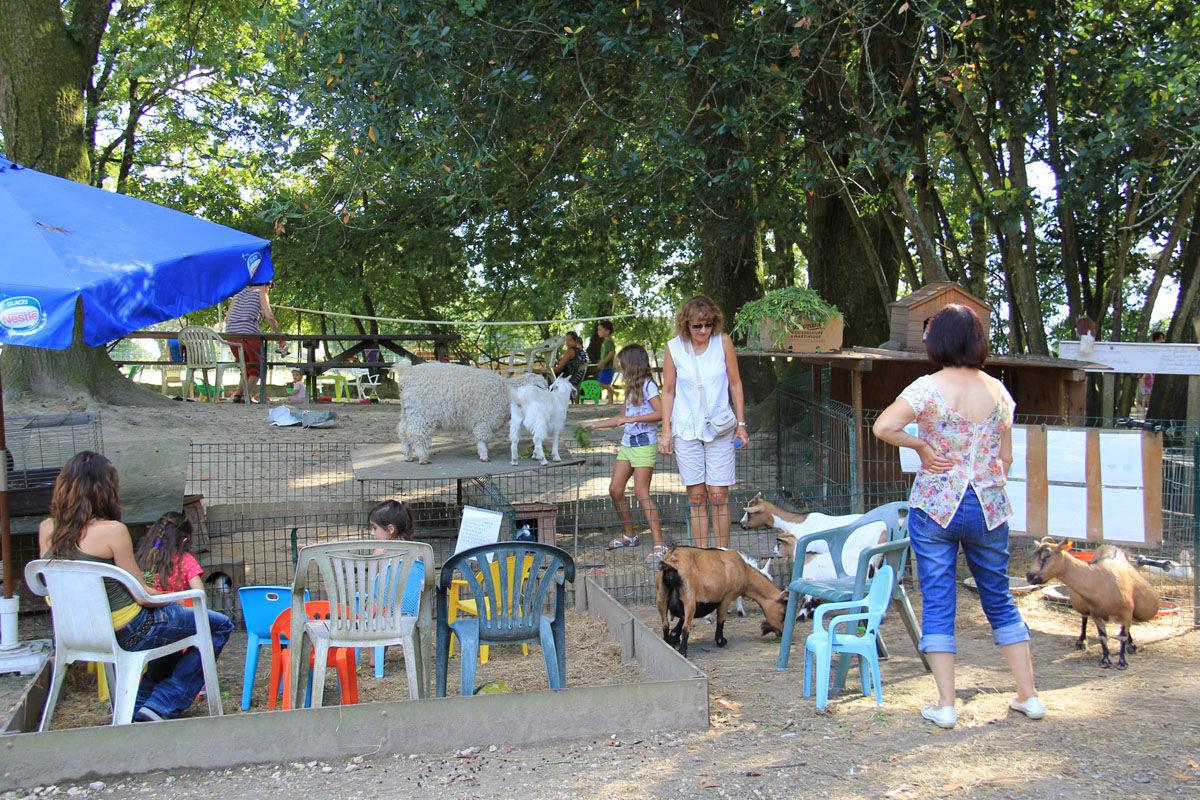 Parque de animales de la Pêcherie d'Aurit en Hagetaubin