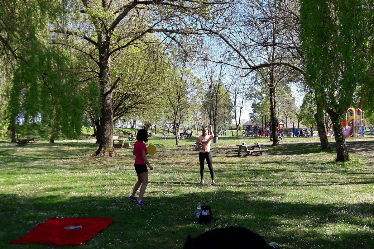 Aire de jeux de la base de loisirs Orthez Biron