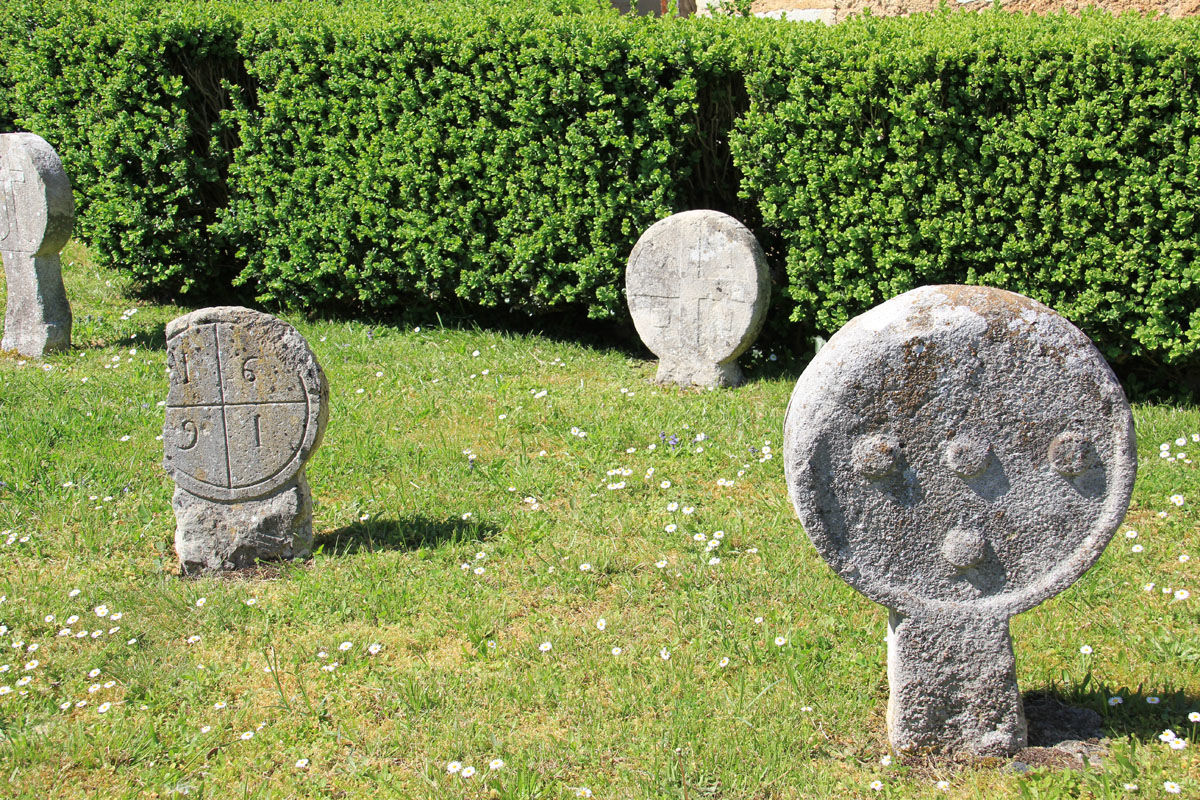 Discoid gravestones of the Commanderie of Lacommande