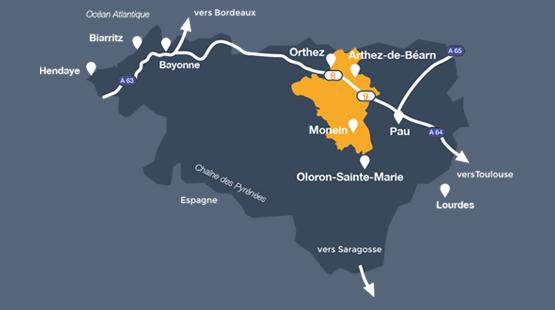 Carte Coeur de Béarn
