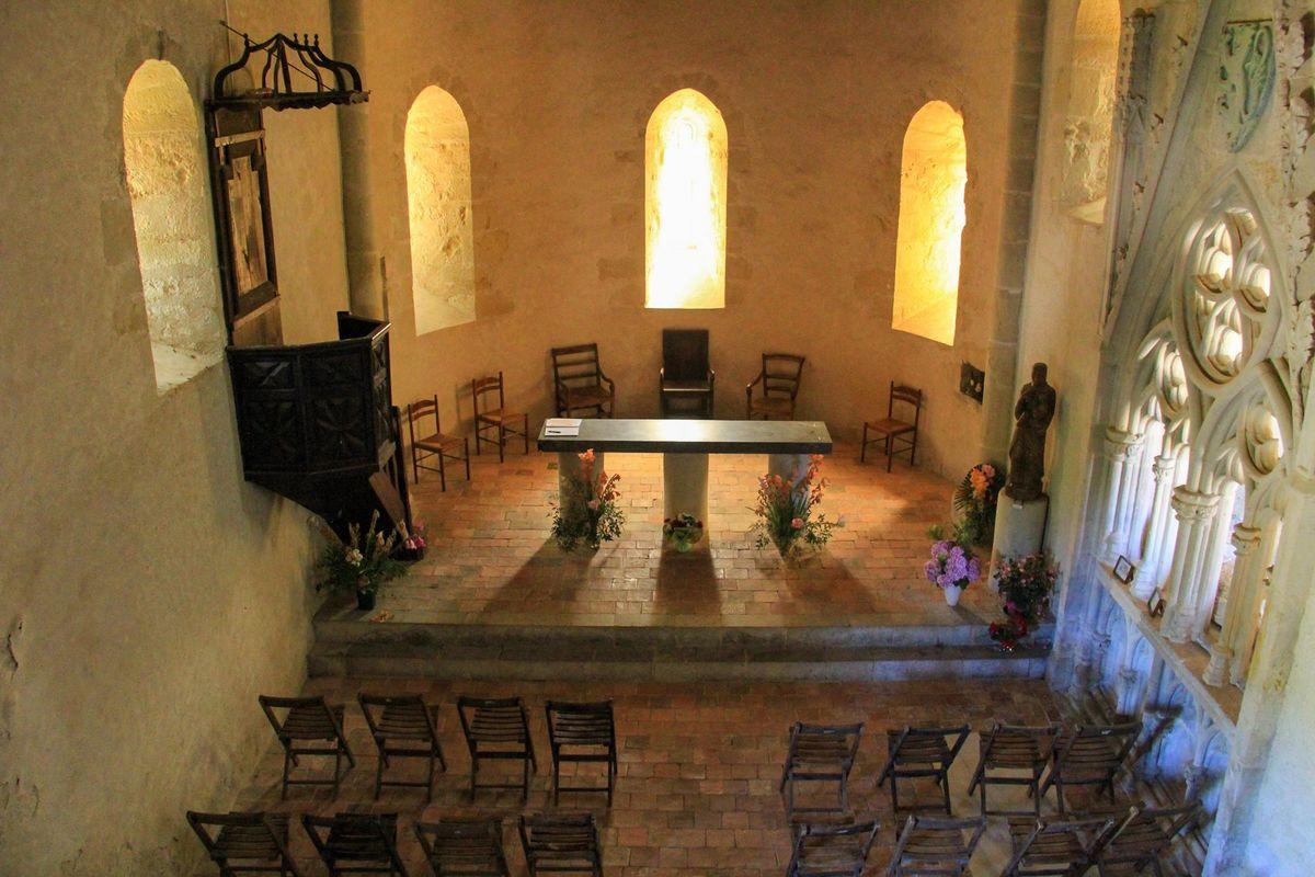 Chapelle de Caubin du 12ème siècle à Arthez de Béarn