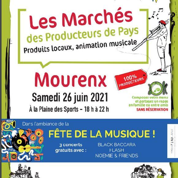 Fête de la musique et marché de producteurs - MOURENX