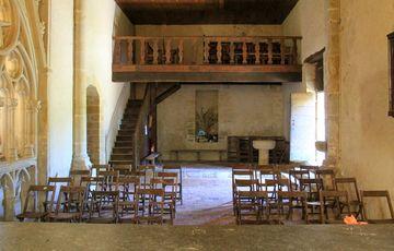 Tribune de la chapelle de Caubin à Arthez de Béarn