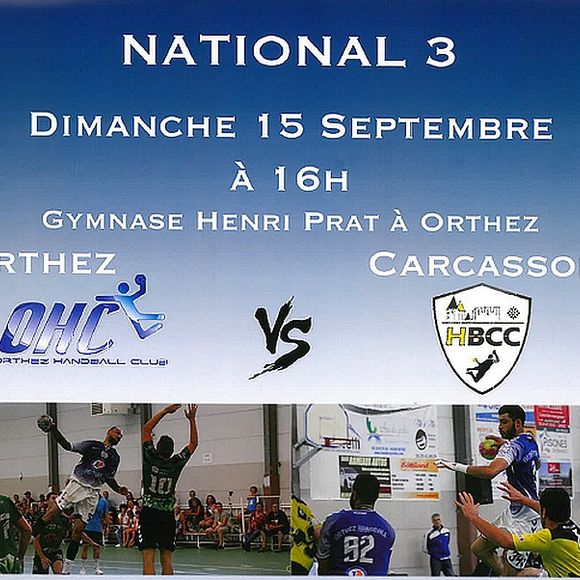 National 3 Hand ball : Orthez vs Carcassonne - ORTHEZ