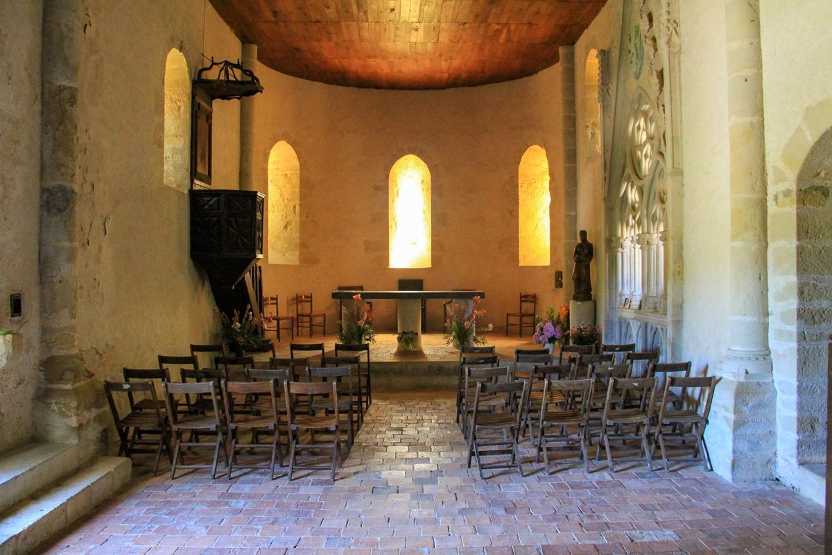 Style roman de la chapelle de Caubin