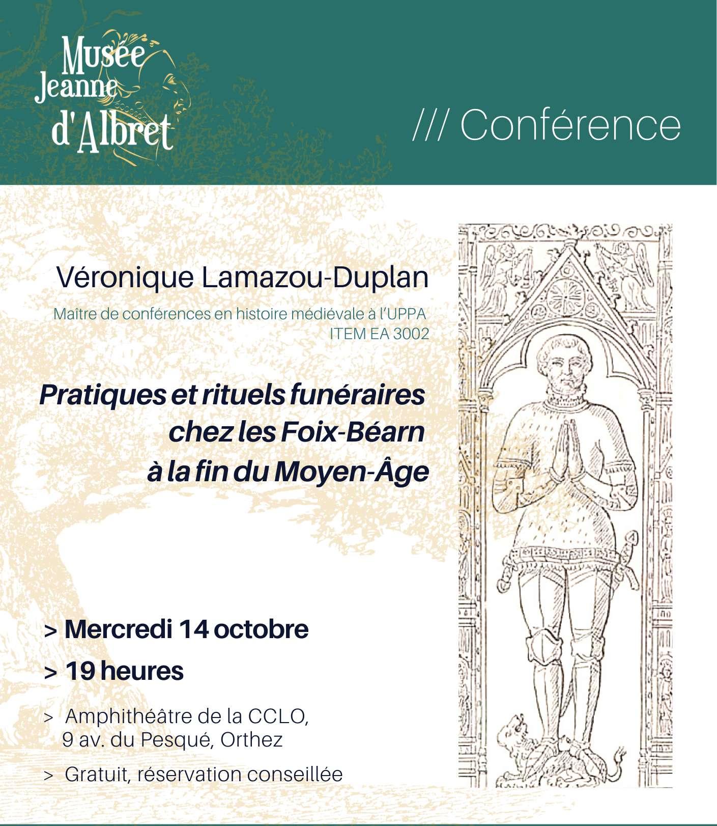 Conférence : Pratiques et rituels funéraires chez les Foix-Béarn - ORTHEZ