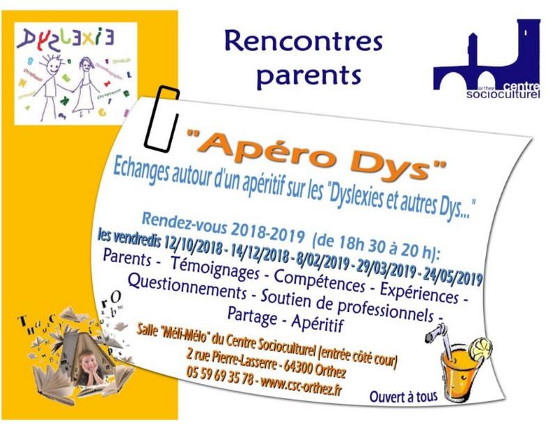 Apéro Dys : échanges autour d'un apéritif sur les Dyslexies et autres Dys... - ORTHEZ