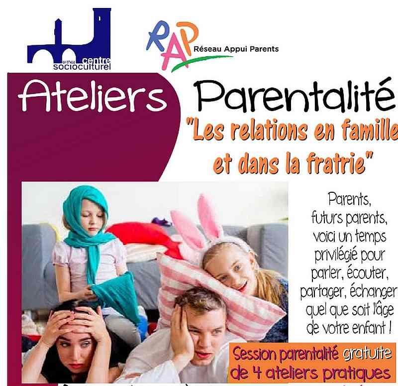 Atelier Parentalité : Les relations en famille et dans la fratrie - ORTHEZ