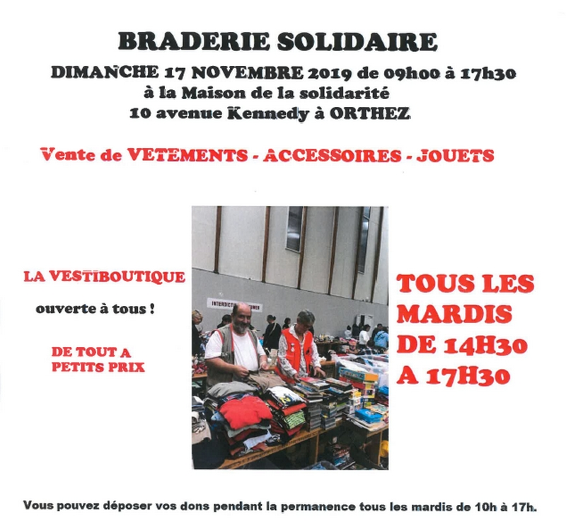 Braderie Solidaire - ORTHEZ