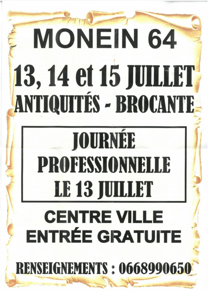 Antiquités - brocante - MONEIN