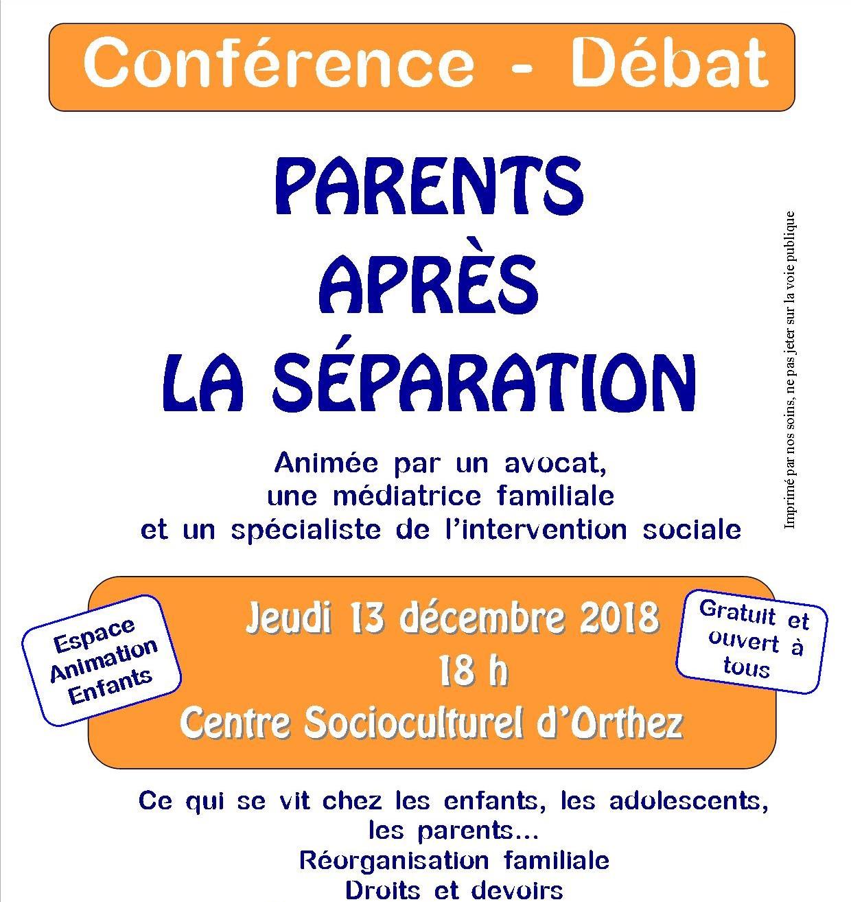 Conférence-Débat : Parents après la séparation - ORTHEZ
