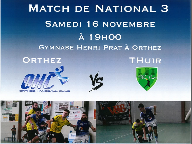 Match de Hand-Ball National 3 : OHC vs Thuir - ORTHEZ