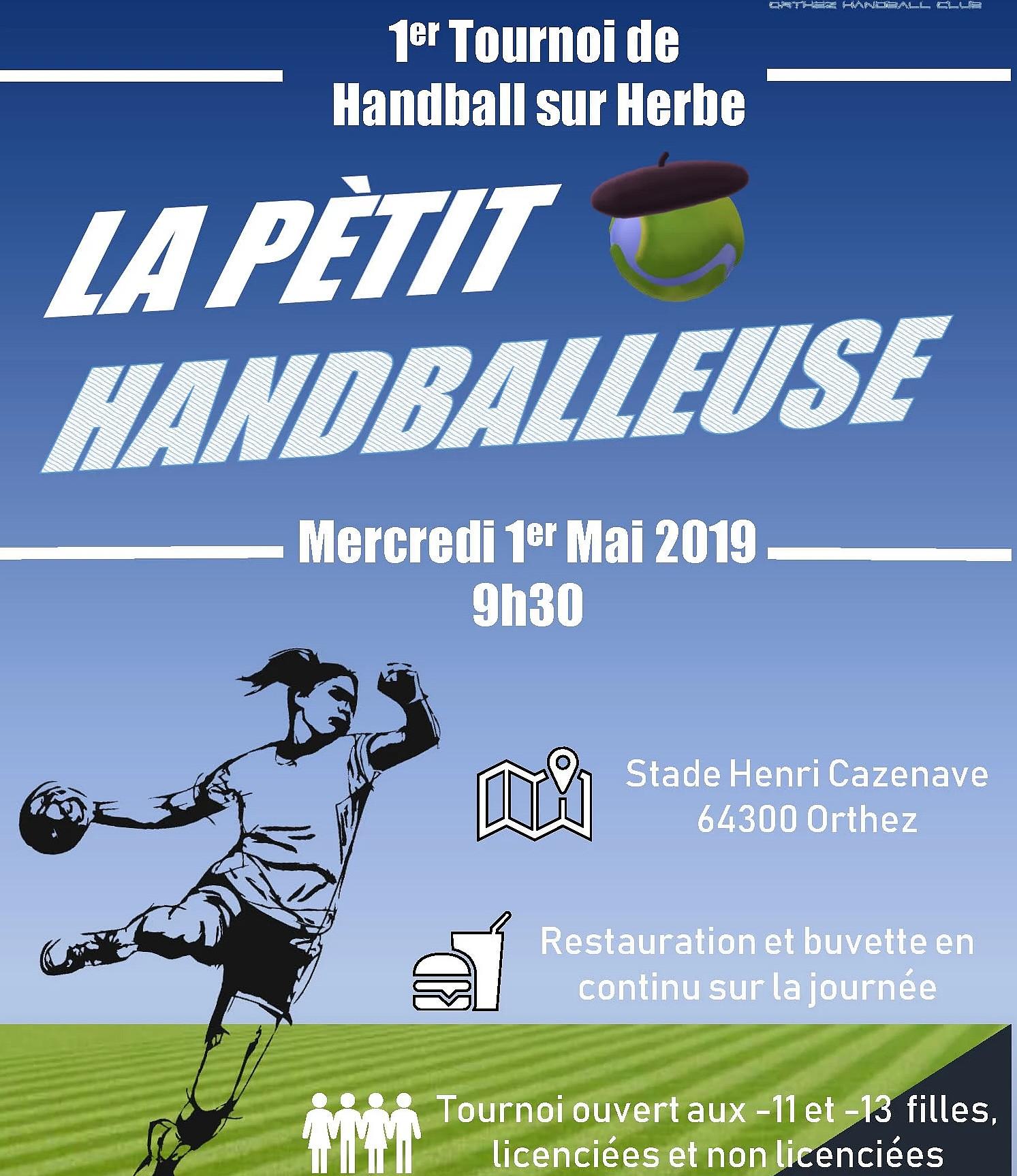La Pétit Handballeuse : Tournoi de Handball sur herbe - ORTHEZ