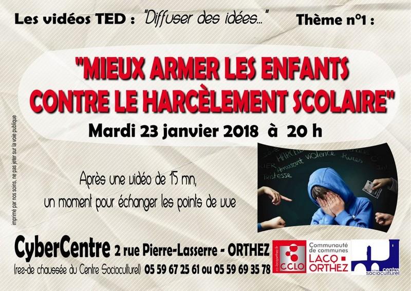 Conférence: Mieux armer les enfants face au harcèlement scolaire - ORTHEZ