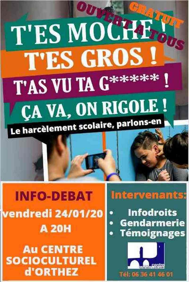 Soirée Info-Débat : Le harcèlement scolaire, parlons-en - ORTHEZ