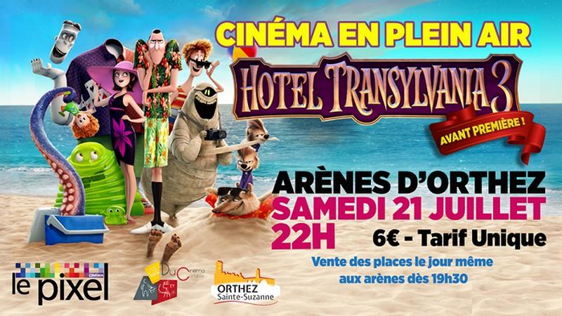 Cinéma en plein air : Hôtel Transylvania 3 - ORTHEZ