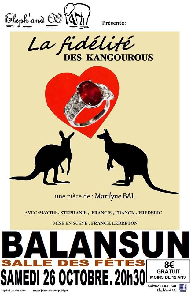 Théâtre : La fidélité des Kangourous - BAIGTS-DE-BEARN