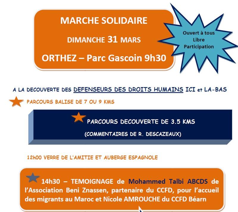 Marche solidaire - ORTHEZ