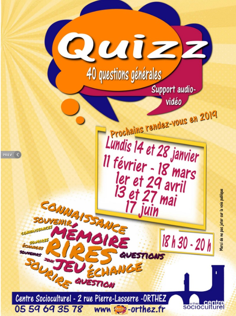 Soirée Quizz - ORTHEZ