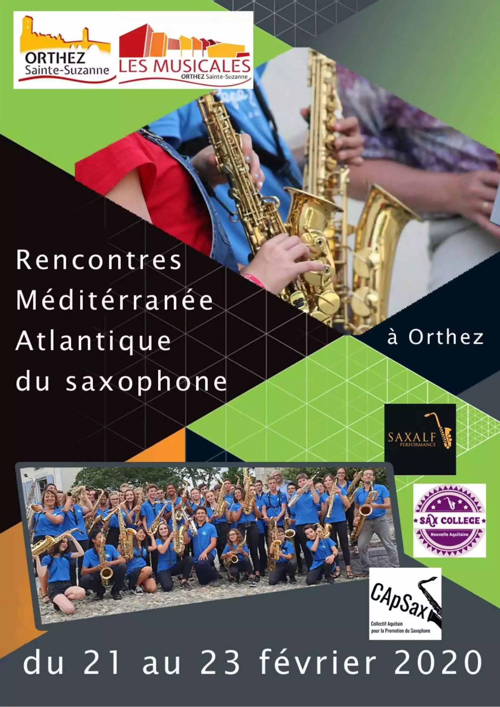 Rencontres Méditerranée Atlantique du Saxophone - ORTHEZ