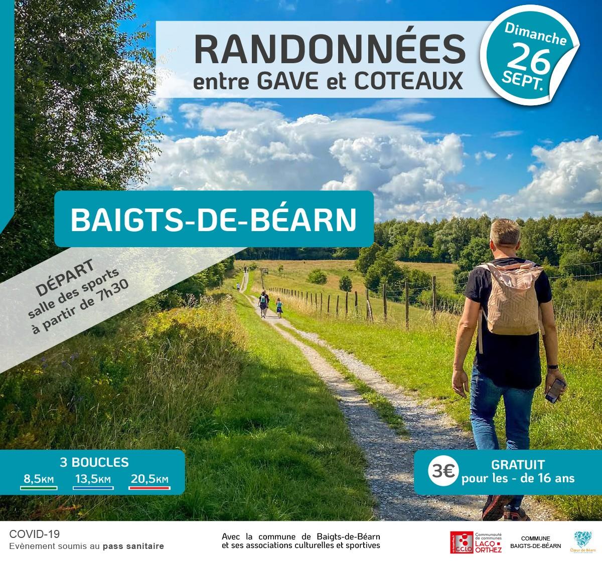Randonnée entre Gave et Coteaux - BAIGTS-DE-BEARN