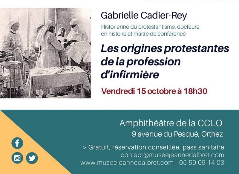 Conférence : Les origines protestantes de la profession d'infirmière - ORTHEZ