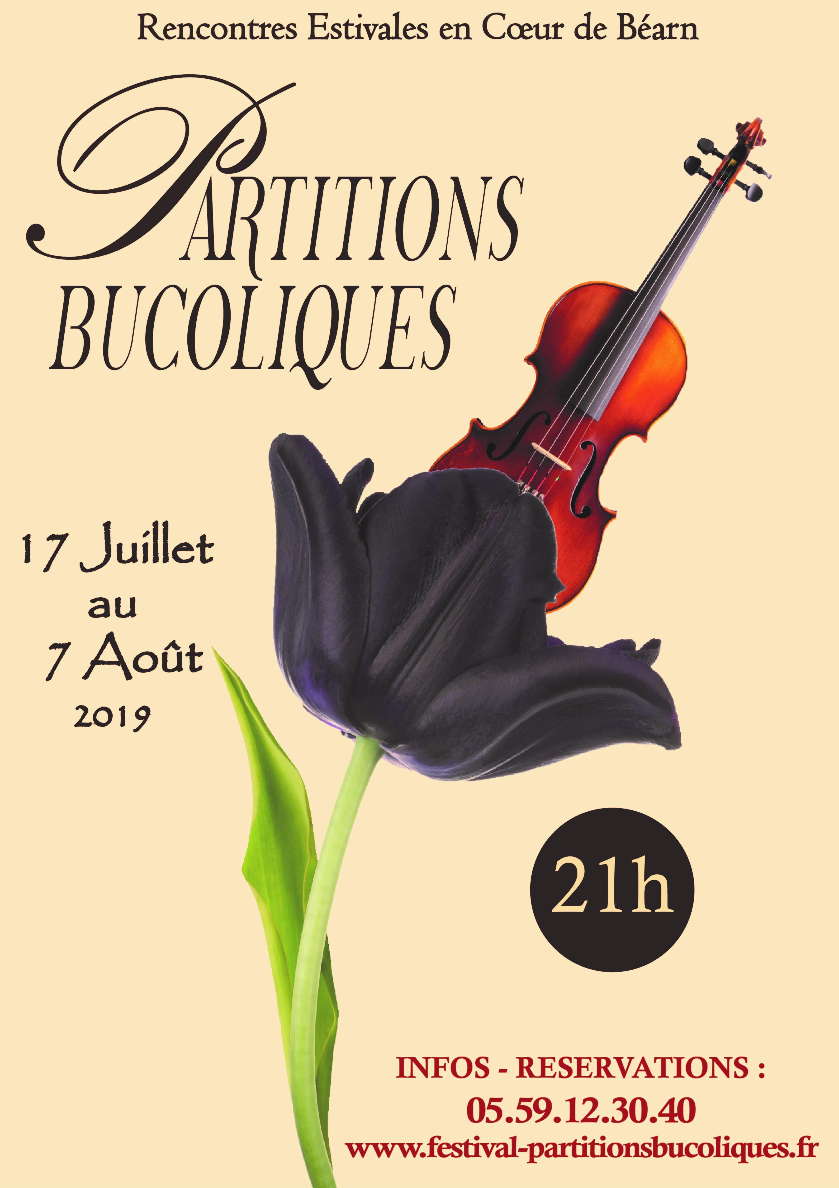 Partitions Bucoliques - Concert : Trio flûte alto harpe - BOUMOURT