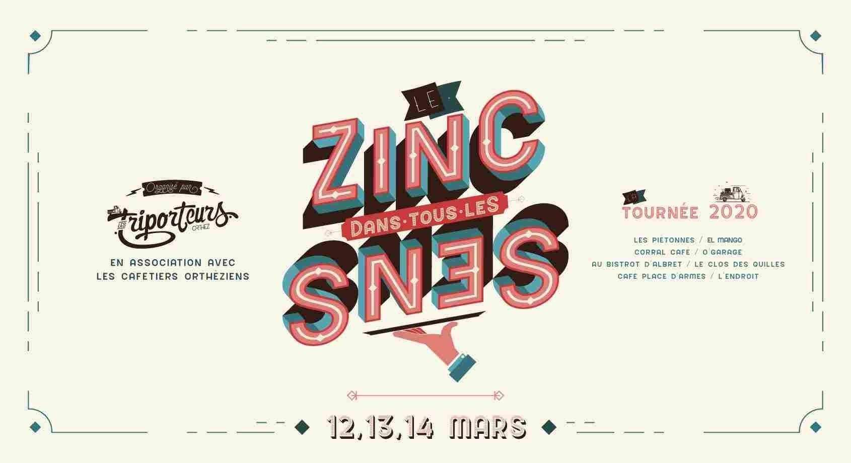 Le Zinc dans tous les Sens : Concert Fleur de zinc - ORTHEZ