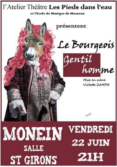Théâtre : Le Bourgeois gentilhomme - MONEIN