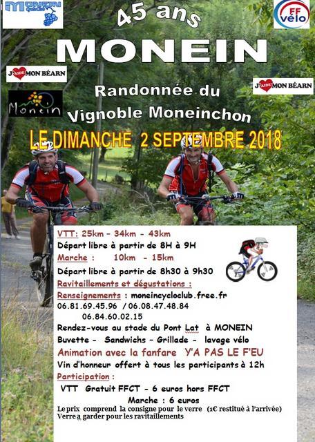 Randonnée du vignoble Moneinchon - MONEIN