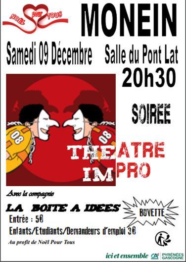 Soirée théâtre impro - MONEIN