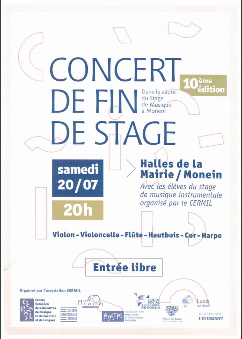 Concert de fin de stage - MONEIN