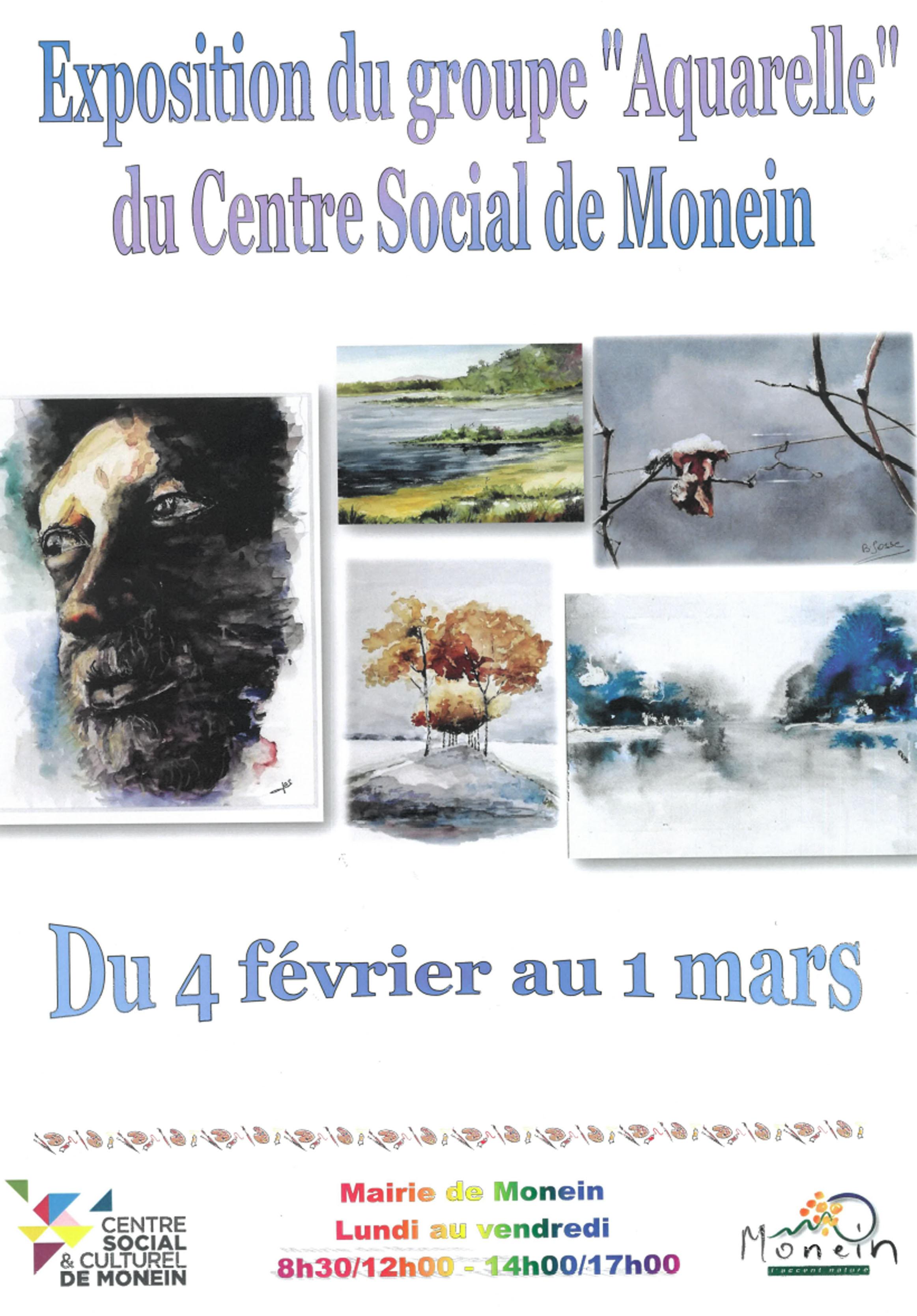 Exposition d'aquarelles - MONEIN
