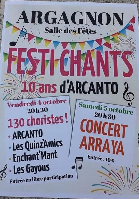 Festi Chants : Concert Arraya - ARGAGNON