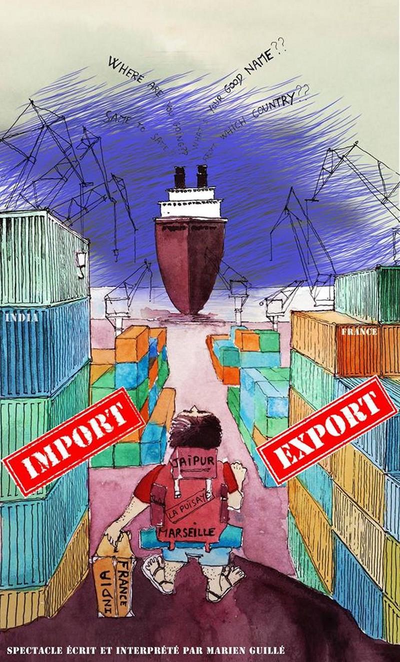 Spectacle : Import/export récit d'un voyage en Inde - PARBAYSE