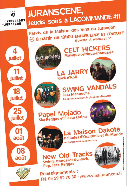 Jeudi soir à Lacommande : New Old Tracks - LACOMMANDE